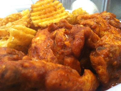 Delicious, spicy buffalo chicken wings